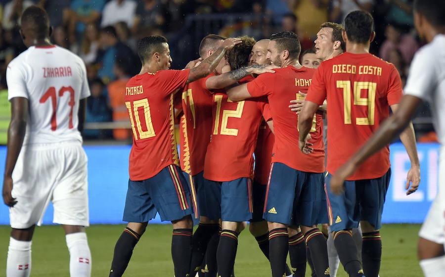 Las mejores imágenes del España-Suiza