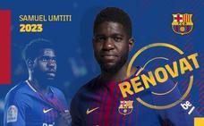 El Barça renueva a Umtiti hasta 2023