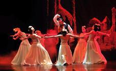 El Ballet de Linares convierte 'Fausto' en una obra que atrae a los linarenses