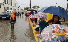 Las lluvias bloquean el acceso al colegio Mare Nostrum