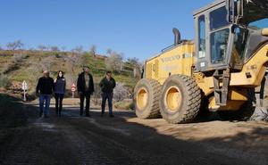La carretera de El Trebolar, en obras hasta febrero
