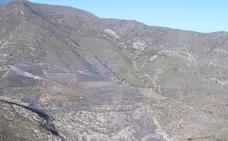 Arde una zona de montaña en el Cortijo de Capilla de Adra