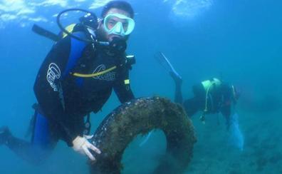 Alrededor de 1.500 kilos de basura, fuera del mar