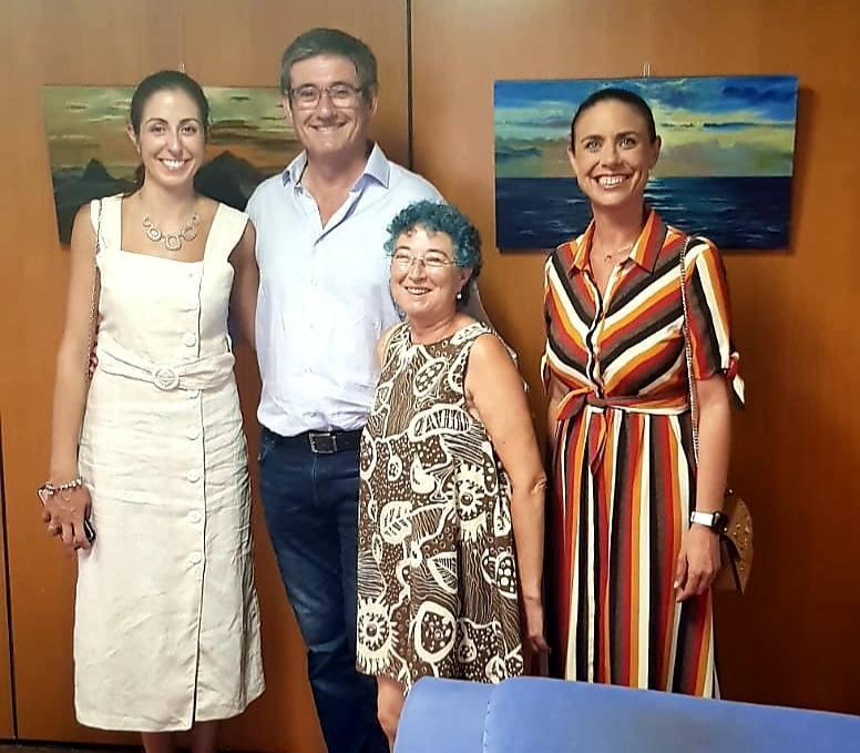 Pepita Quiles expone en el Real Club Náutico de Adra