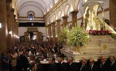 La patrona de Berja permanece en la parroquia hasta el domingo