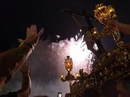 El Cristo de la Luz desfila en procesión por las calles de Dalías