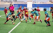 El rugby celebra su primer partido en Adra tras un año sin encuentros