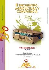Mañana se celebrará el II Encuentro de Agricultura y Conviviencia