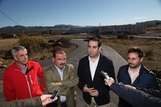 La Diputación inicia las obras para la construcción de una glorieta en la JA4302 de acceso al polígono El Chaparral