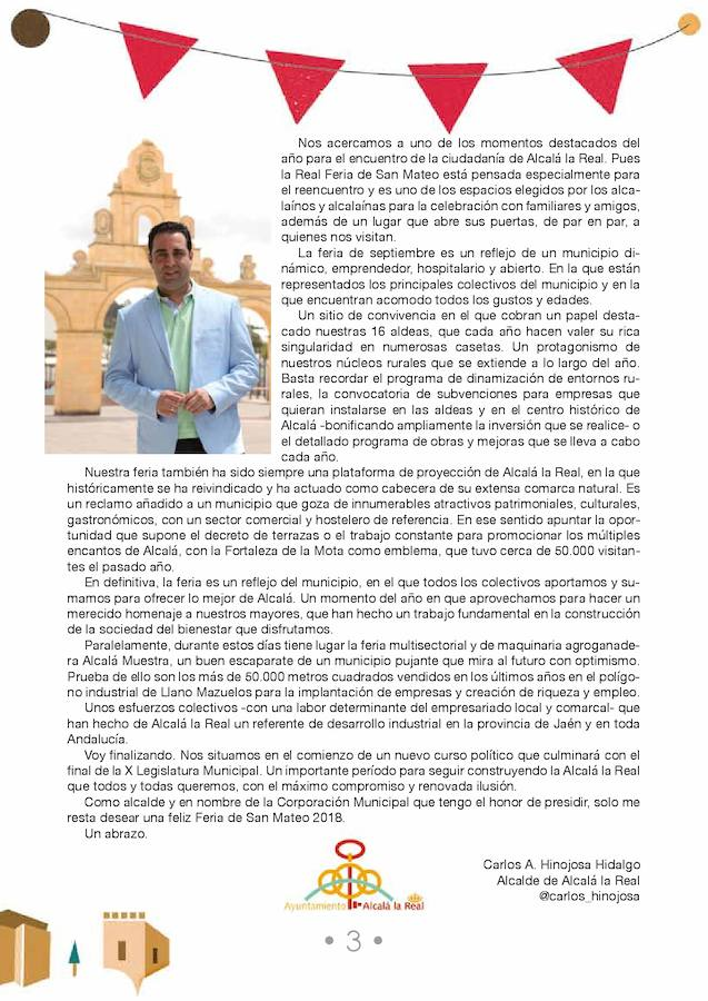 Programación de la Feria de Alcalá la Real