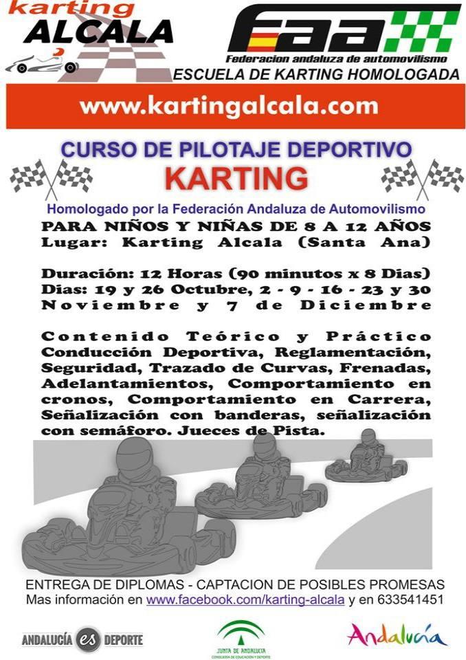Cursos de pilotaje deportivo en el Karting Alcalá, homologado recientemente
