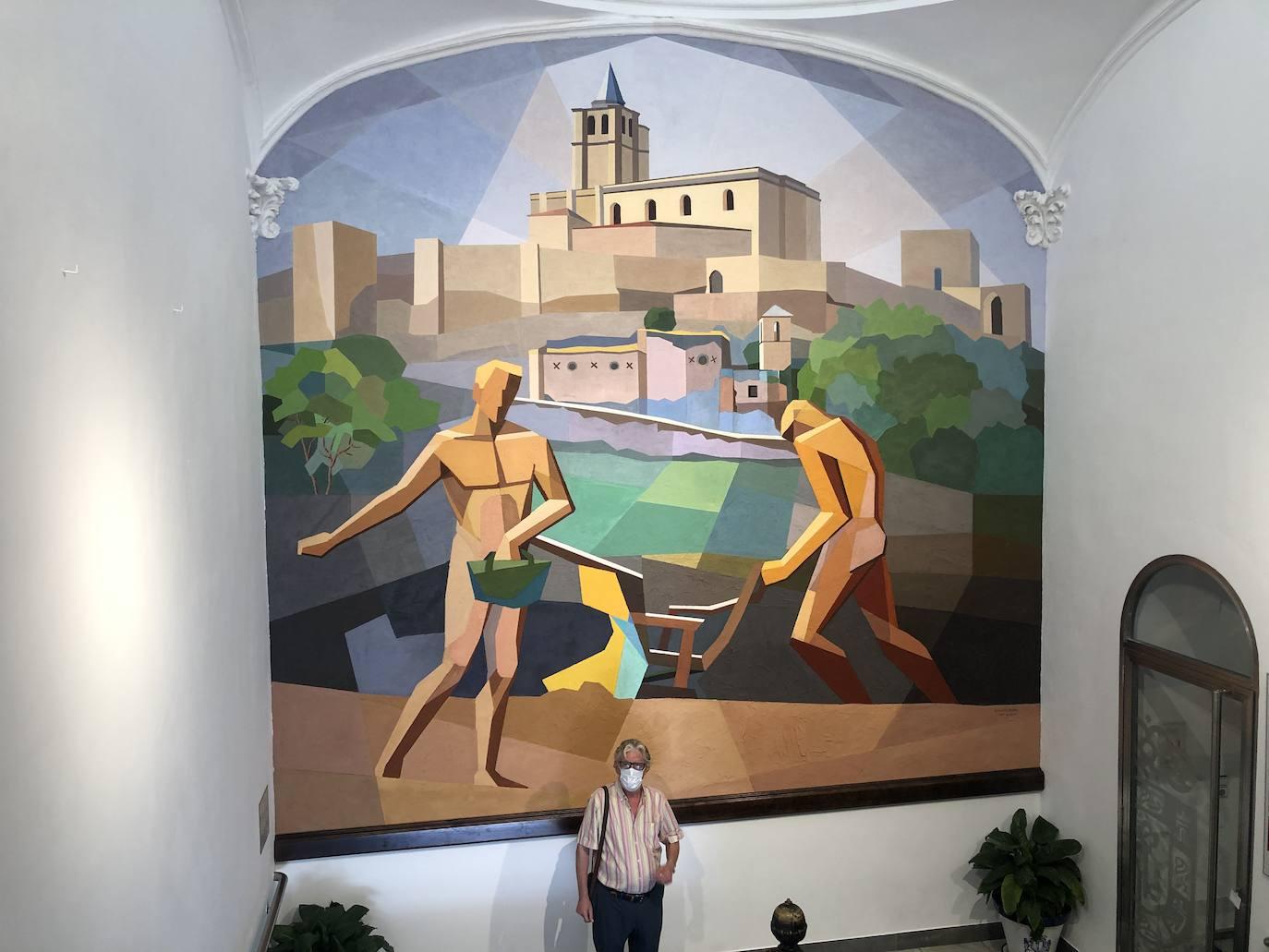 Un mural que recupera la vida