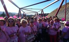 Olula del Río y Macael unidos a través de la pasarela rosa por el cáncer de mama