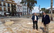 La piedra natural de Albox es la protagonista en la remodelación de la Plaza Mayor