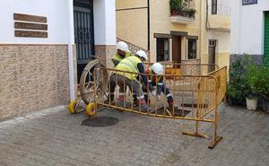 El Ayuntamiento de Serón trabaja en el soterramiento de cables de sus calles