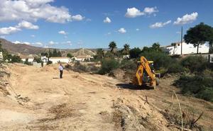 Canalizado el barranco en Los Menchones en Arboleas para dar salida a las aguas