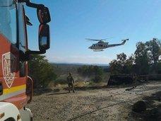 Un fuego se queda a las puertas del parque natural Sierra de Andújar