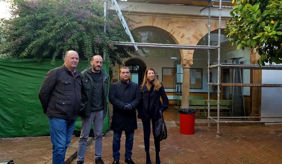 Las obras del tejado en el Conservatorio evitarán las goteras y humedades