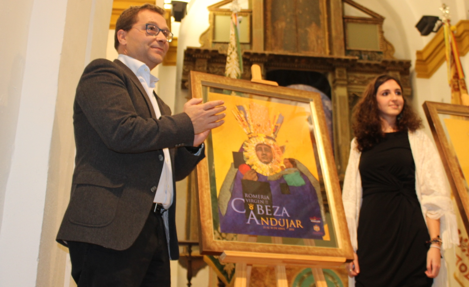 Una mezcla de grabado y collage ilustran el Cartel de la Romería de la Virgen de la Cabeza