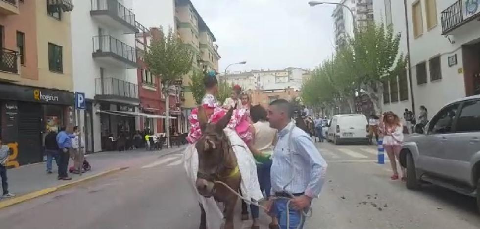 Andújar celebra el acto de bendición del caballo romero