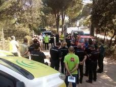 La Junta realiza un ejercicio de incendio urbano-forestal en la Sierra de Andújar