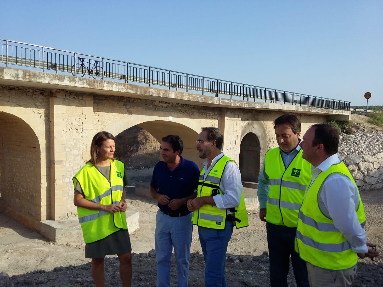 La Junta pone en servicio el puente entre Porcuna y Valenzuela tras las obras de emergencia