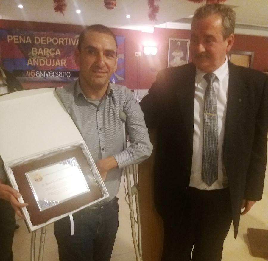 La Peña Deportiva Barça de Andújar celebra su 46 aniversario y homenajea a Miguel Ángel Martínez Tajuelo