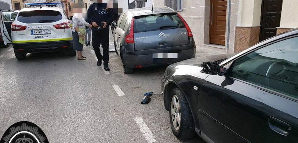 La Policía Local intercepta a un conductor en Andújar que dio positivo y provocó un accidente