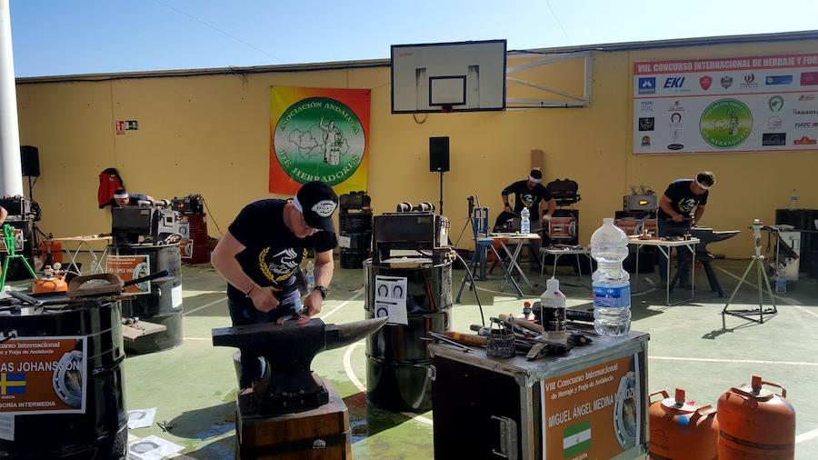 37 participantes acude al VIII Concurso Internacional de Herrajes 'Ciudad de Andújar'