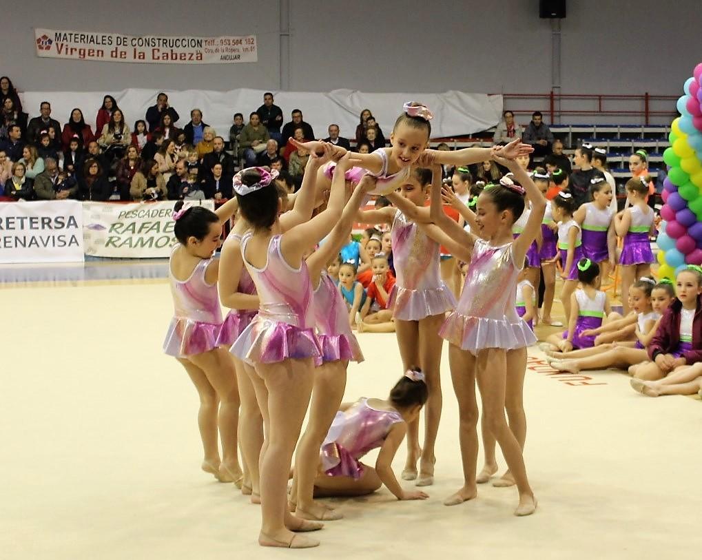 El deporte de la gimnasia rítmica se ha consolidado de una manera exitosa en Andújar