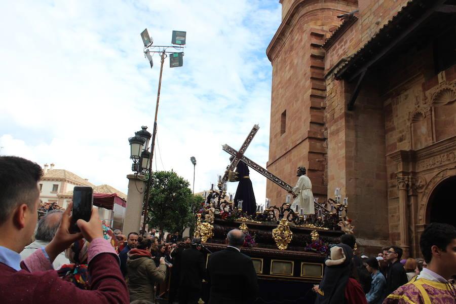 Dolor en calles y templos de Andújar en Viernes Santo