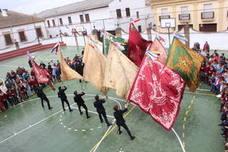 Las banderas de la Matriz esparcen vientos de amor mariano a la toda la ciudadanía