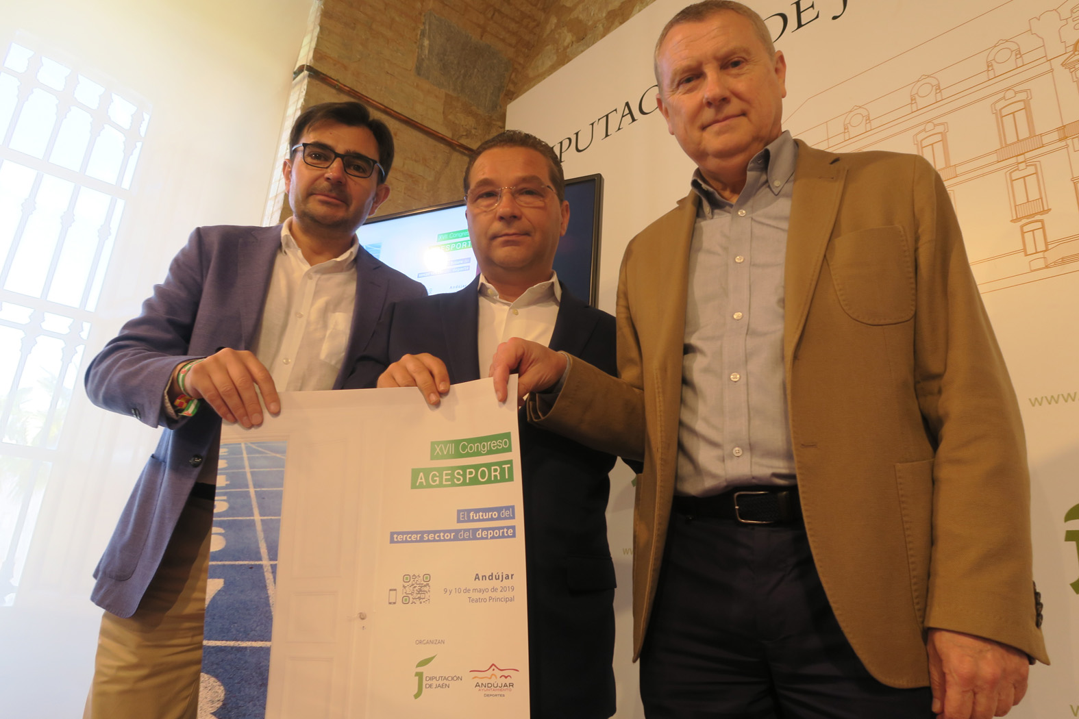 Cerca de 200 gestores deportivos se darán cita en Andújar entre el 9 y el 10 de mayo en el XVII Congreso Agesport