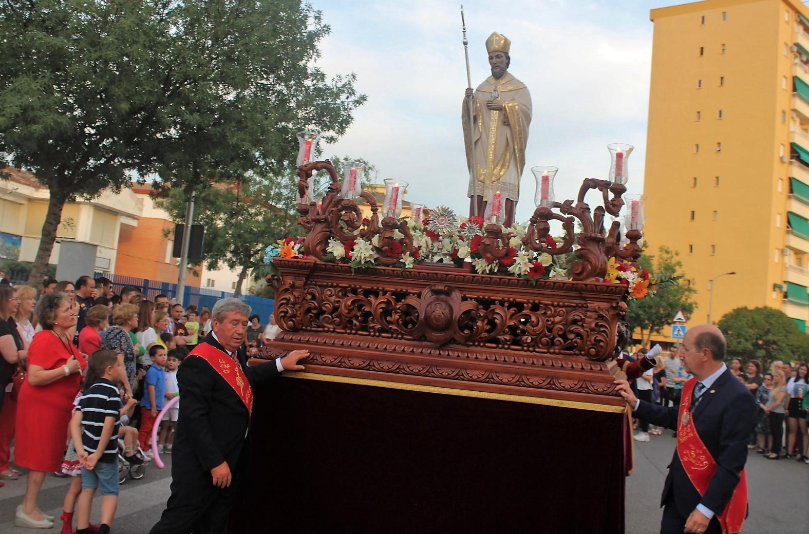 La procesión pone el colofón a los actos y cultos en honor de San Eufrasio