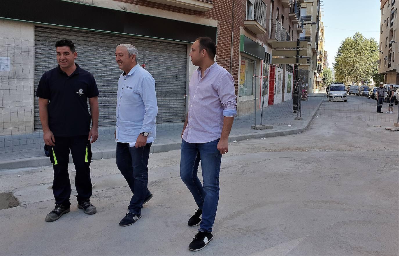 La remodelación de la calle La Palma, importante arteria de la ciudad, se halla en el tramo final