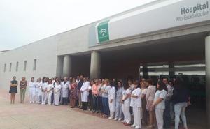 Concentración en repulsa por las agresiones a sanitarios en Andújar