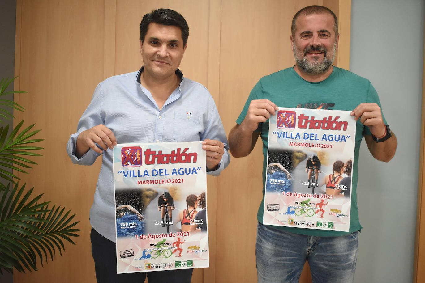 Marmolejo acogerá el domingo 1 de agosto el XI Triatlón «Villa del Agua» con éxito de participación