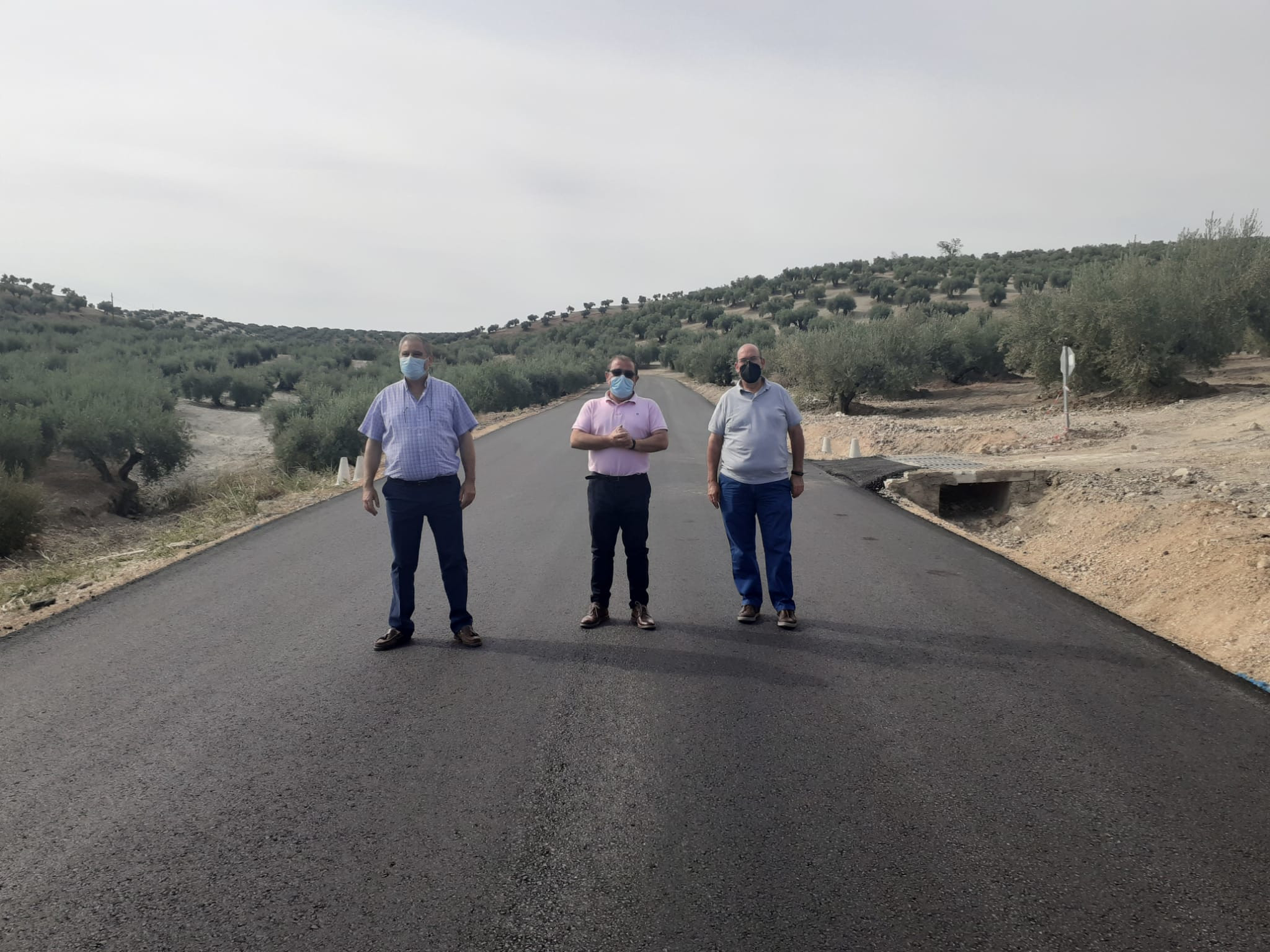 Las obras en la carretera entre Villardompardo yEscañuela que ejecuta la Diputación se encuentran ya al 80%