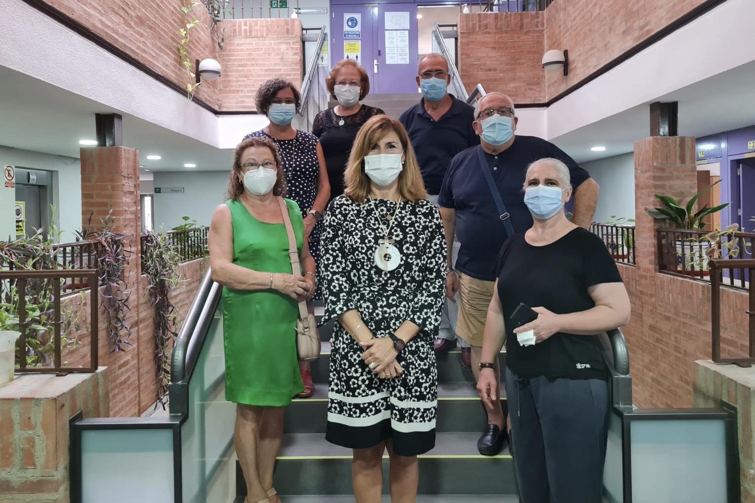 La delegada de Igualdad visita el CPA de Andújar y lo defiende como recinto seguro frente al coronavirus