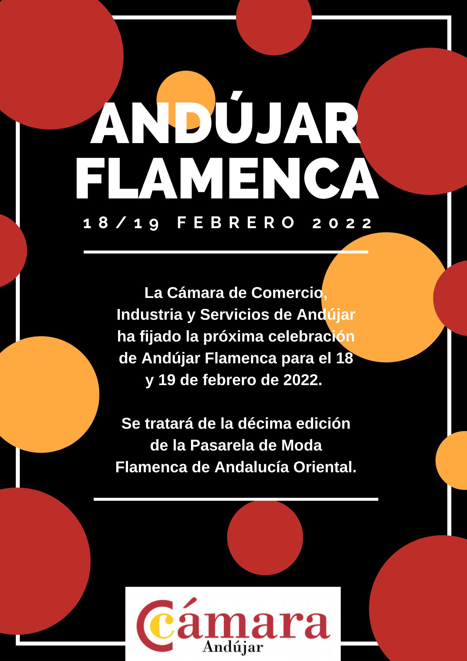 La décima edición de Andújar Flamenca se celebrará los días 18 y 19 de febrero de 2022