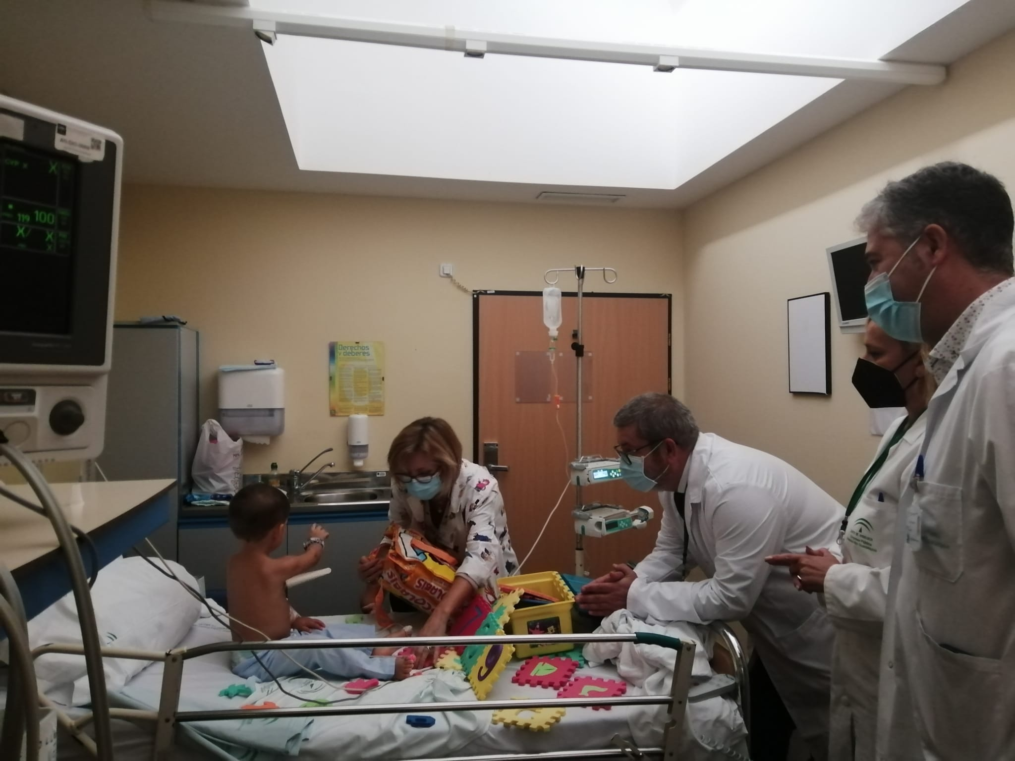 Da comienzo el Aula Hospitalaria del Hospital Alto Guadalquivir manteniendo la seguridad frente al covid