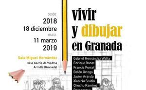 'Vivir y dibujar en Granada' recoge el trabajo de autores de la provincia en Armilla