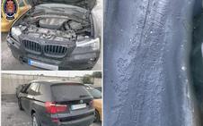 La policía recupera un coche de lujo robado en Armilla tras encontrárselo en un accidente