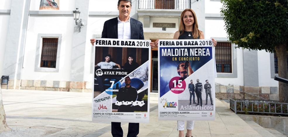 Baza recupera los conciertos de feria con Maldita Nerea y Ayax y Prok y Foyone