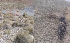 El Infoca controla un conato de incendio provocado por un rayo en Zújar