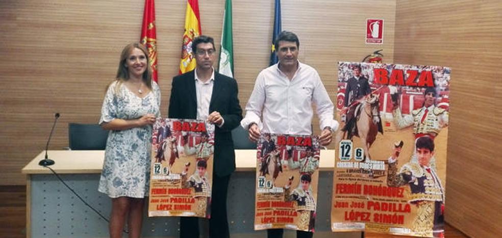 Fermín Bohórquez, Padilla y López Simón integran el cartel de la Feria del Baza