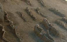 Hace 14 años también se produjo un hallazgo de un cementerio medieval junto al Campo de Fútbol de la Alameda