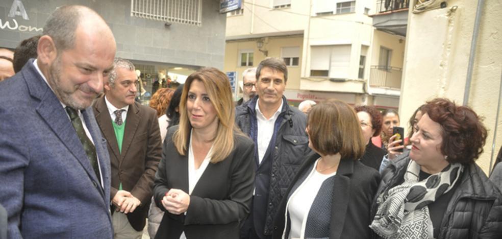 Susana Díaz pide que se acelere la construcción de la línea de 400 Kv