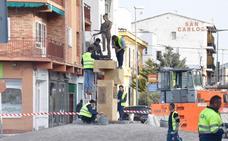 Baza recupera la escultura del Cascamorras de Ramón Salarich