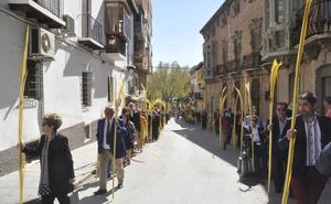 La procesión de Palmas en el Domingo de Ramos en Huéscar
